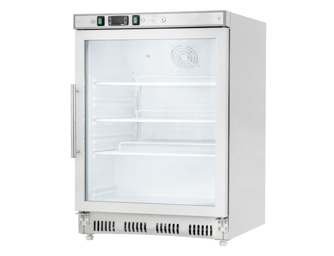 Pult alá helyezhető üvegajtós hűtőszekrény
