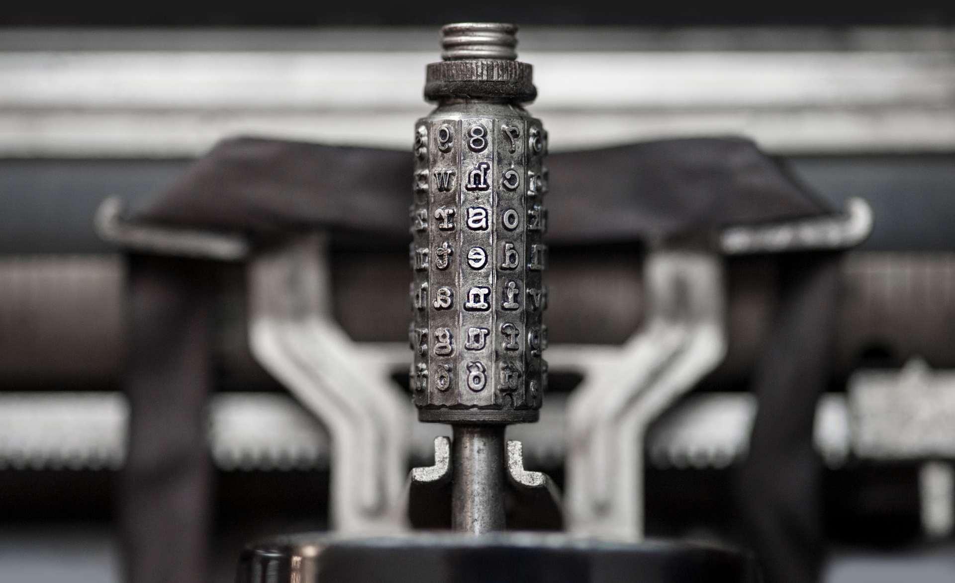 Régies írógép