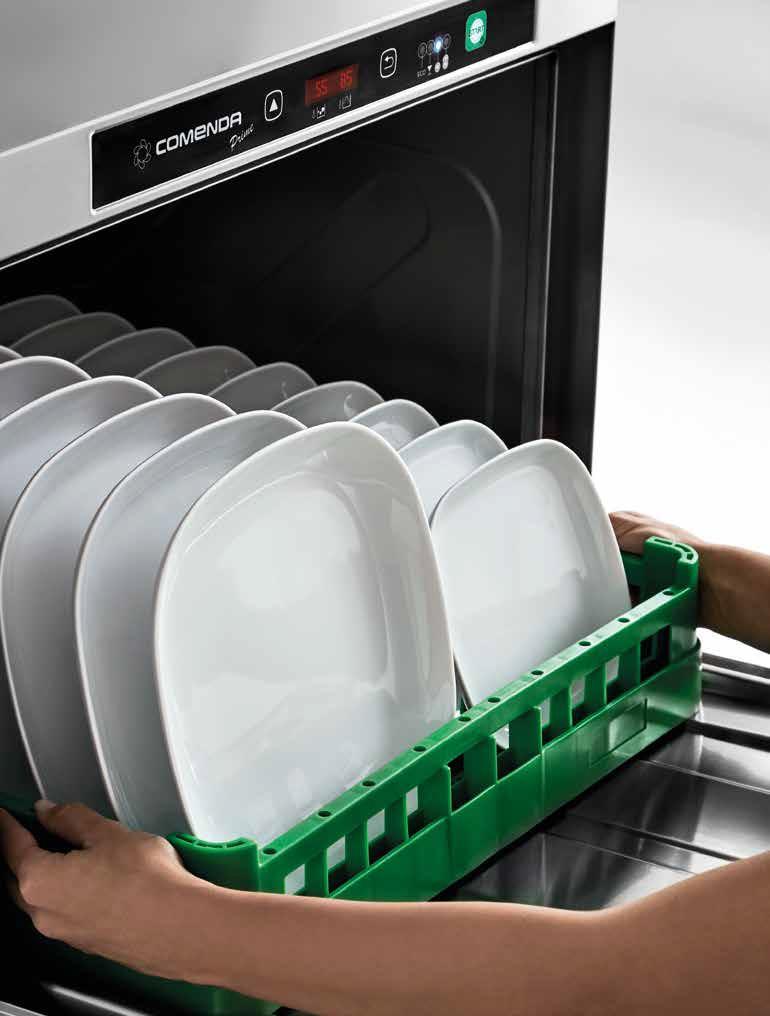 Comenda mosogatógép nyitott állapotban